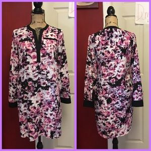 2 for $40-attention floral shirt dress